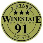 Winestate_3 Stars_91 Points_Sticker