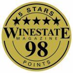 Winestate_5 Stars_98 Points_Sticker